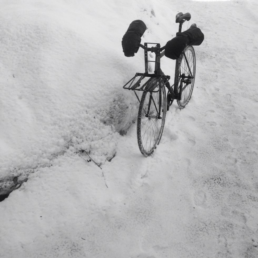 This is one of my work bikes during this Januarys deep freeze when temperatures reached below -40 degrees Celsius with wind chill.